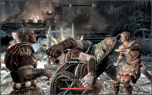 The fights begin as soon as you enter the city (the above screen) - Battle for Windhelm - Imperial Legion Quests - The Elder Scrolls V: Skyrim - Game Guide and Walkthrough