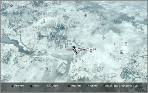 Open the world map and plan a journey to Windhelm located in the west part of Skyrim (the above screen) - Joining the Stormcloaks | Stormcloak Rebellion Quests - Stormcloak Rebellion Quests - The Elder Scrolls V: Skyrim Game Guide