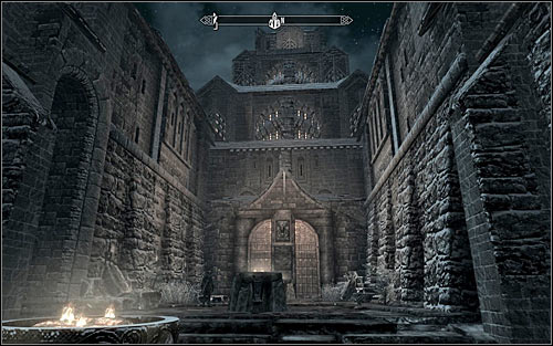 Go to the north part of the city and locate the entrance the Palace of the Kings (the above screen) - Joining the Stormcloaks | Stormcloak Rebellion Quests - Stormcloak Rebellion Quests - The Elder Scrolls V: Skyrim Game Guide