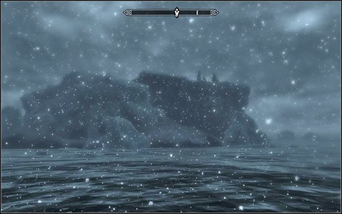Keep going east, omitting smaller islands, swimming if necessary, and watching out for wild animals, especially wolves and bears - Joining the Stormcloaks | Stormcloak Rebellion Quests - Stormcloak Rebellion Quests - The Elder Scrolls V: Skyrim Game Guide