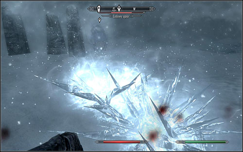 If your character prefers close combat, consider poisoning your weapon with the recently received Ice Wraith Bane, so you can hit the monster with much greater damage (the above screen); this way it will only take a few successful blows to kill it - Joining the Stormcloaks | Stormcloak Rebellion Quests - Stormcloak Rebellion Quests - The Elder Scrolls V: Skyrim Game Guide