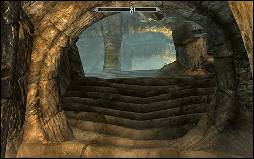 If you chose the shortcut, when you get back to the temple youll have to interact with a bolt which will take you back to the ruins entrance (the above screen) - The Jagged Crown - p.2 | Stormcloak Rebellion Quests - Stormcloak Rebellion Quests - The Elder Scrolls V: Skyrim Game Guide