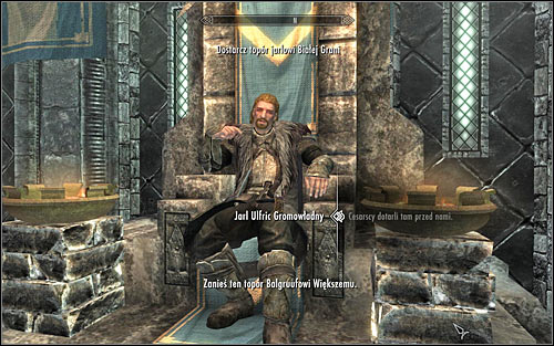 Continue the conversation with Ulfric, started in the previous Stormcloak quest - Message to Whiterun | Stormcloak Rebellion Quests - Stormcloak Rebellion Quests - The Elder Scrolls V: Skyrim Game Guide