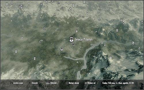 You can now leave the Palace of the Kings and open the world map - Message to Whiterun | Stormcloak Rebellion Quests - Stormcloak Rebellion Quests - The Elder Scrolls V: Skyrim Game Guide