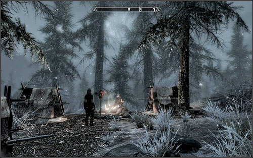 Be careful, because on your way to the Stormcloak camp you can be attacked by bandits or wild animals - Liberation of Skyrim - p.1 | Stormcloak Rebellion Quests - Stormcloak Rebellion Quests - The Elder Scrolls V: Skyrim Game Guide