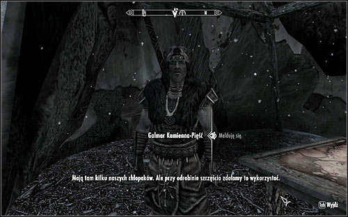 Enter the camp and look around for the tent with Galmar Stone-Fist inside - Liberation of Skyrim - p.1 | Stormcloak Rebellion Quests - Stormcloak Rebellion Quests - The Elder Scrolls V: Skyrim Game Guide