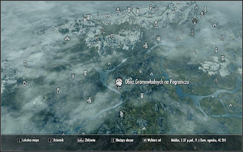 Leave the Palace of the Kings, open the world map and find the Reach Stormcloak Camp (the above screen) - Liberation of Skyrim - p.1 | Stormcloak Rebellion Quests - Stormcloak Rebellion Quests - The Elder Scrolls V: Skyrim Game Guide