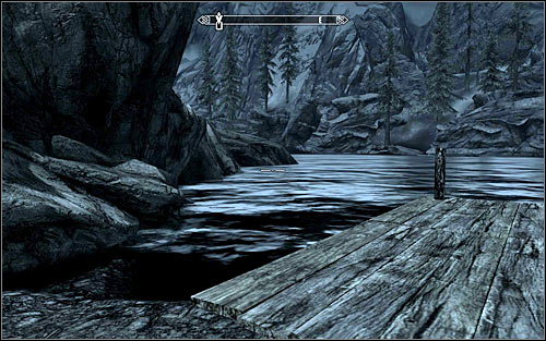 After a while, I suggest crouching or at least slowing down to avoid being spotted or heard - Rescue from Neugrad - p.1 | Stormcloak Rebellion Quests - Stormcloak Rebellion Quests - The Elder Scrolls V: Skyrim Game Guide