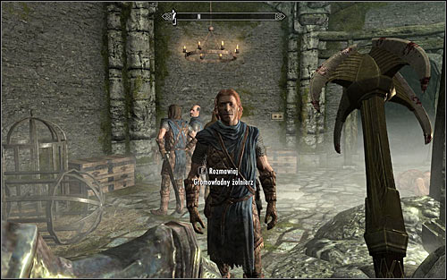 Free all four Stormcloak soldiers and wait until they run to one nearby chests to recollect their equipment (the above screen) - Rescue from Neugrad - p.2 | Stormcloak Rebellion Quests - Stormcloak Rebellion Quests - The Elder Scrolls V: Skyrim Game Guide