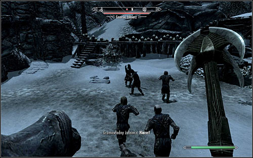 Once youre in the courtyard, youll probably be surprised that its guarded only by three Legionnaires (the above screen) - Rescue from Neugrad - p.2 | Stormcloak Rebellion Quests - Stormcloak Rebellion Quests - The Elder Scrolls V: Skyrim Game Guide