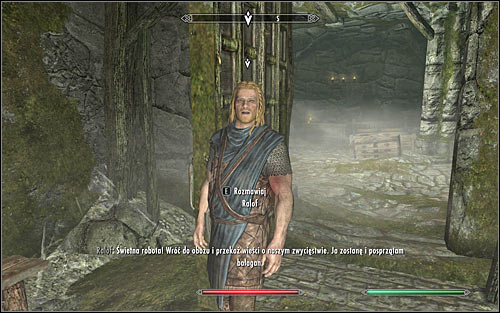 Find Ralof; depending on the situation he may be either in the courtyard or inside the fort - Rescue from Neugrad - p.2 | Stormcloak Rebellion Quests - Stormcloak Rebellion Quests - The Elder Scrolls V: Skyrim Game Guide
