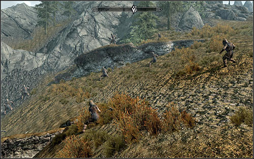 When you reach your destination, you should see Stormcloak soldiers who are to take part in the attack (the above screen) - The Battle for Fort Sungard | Stormcloak Rebellion Quests - Stormcloak Rebellion Quests - The Elder Scrolls V: Skyrim Game Guide