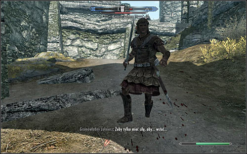 If your character prefers close combat, start eliminating the Imperial Legion soldiers as soon as you reach the proper part of the fort (the above screen) - The Battle for Fort Sungard | Stormcloak Rebellion Quests - Stormcloak Rebellion Quests - The Elder Scrolls V: Skyrim Game Guide