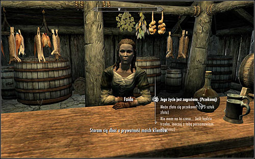 The innkeeper refuses to share any details on their clients, leaving you with a few options - A False Front | Stormcloak Rebellion Quests - Stormcloak Rebellion Quests - The Elder Scrolls V: Skyrim Game Guide