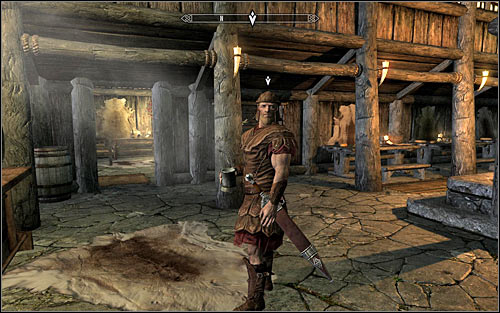 If you failed to persuade either of the innkeepers to tell you anything about the courier, or you simply want to avoid bloodshed, you can stay at the inn, fast forward time and wait for the Imperial Courier to arrive (the above screen) - A False Front | Stormcloak Rebellion Quests - Stormcloak Rebellion Quests - The Elder Scrolls V: Skyrim Game Guide