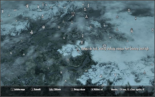 Open the world map and youll see that the allied forces are waiting some distance away from Fort Snowhawk (the above screen), so I dont recommend using Fast Travel - Battle for Fort Snowhawk | Stormcloak Rebellion Quests - Stormcloak Rebellion Quests - The Elder Scrolls V: Skyrim Game Guide
