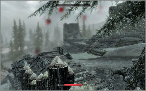 Another solution is to check out the west side of the fort and look for a short wooden fencing you can easily jump over (the above screen) - Battle for Fort Snowhawk | Stormcloak Rebellion Quests - Stormcloak Rebellion Quests - The Elder Scrolls V: Skyrim Game Guide
