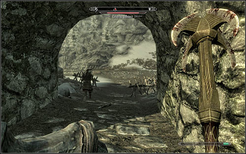 No matter the tactic, fight until the enemy strength parameter drops to 0% - Battle for Fort Snowhawk | Stormcloak Rebellion Quests - Stormcloak Rebellion Quests - The Elder Scrolls V: Skyrim Game Guide