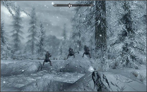 When you reach your destination, look around for the Stormcloak soldiers (the above screen) - The Battle for fort Hraggstad | Stormcloak Rebellion Quests - Stormcloak Rebellion Quests - The Elder Scrolls V: Skyrim Game Guide