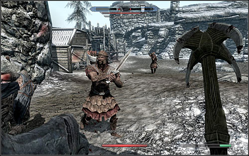 If your character prefers close combat, you can attack the Imperial soldiers once youre in the courtyard (the above screen) - The Battle for fort Hraggstad | Stormcloak Rebellion Quests - Stormcloak Rebellion Quests - The Elder Scrolls V: Skyrim Game Guide