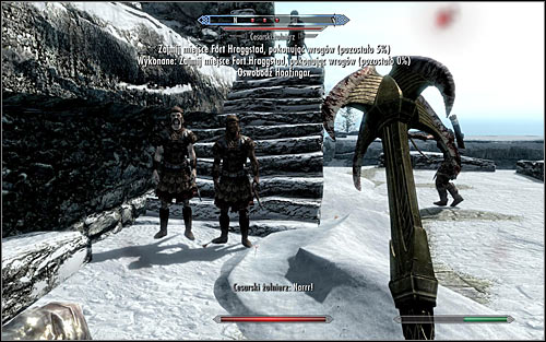 No matter the tactic, try to eliminate enemy soldiers as they come, because the game will be sending them your way quite reguralry - The Battle for fort Hraggstad | Stormcloak Rebellion Quests - Stormcloak Rebellion Quests - The Elder Scrolls V: Skyrim Game Guide