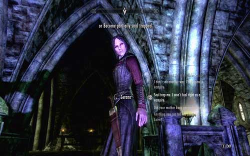 In order to head through it, you need to fulfil one of two conditions - Chasing Echoes - p. 2 - Dawnguard path - The Elder Scrolls V: Skyrim - Dawnguard - Game Guide and Walkthrough