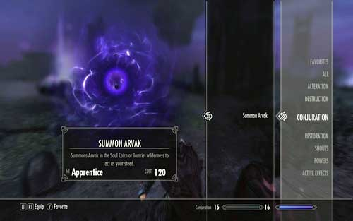 In return you will receive the Summon Avrak spell (found in Conjuration), using which you can summon an undead horse - Find Arvak's skull in the Soul Cairn - Mutual side missions - The Elder Scrolls V: Skyrim - Dawnguard - Game Guide and Walkthrough