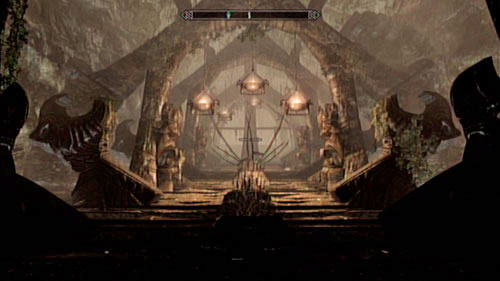 On the stairs you will come across four Draugrs, who you should eliminate from a distance (silent assassination are recommended, as they can pose a threat when in a group) - Find the source of Miraak's power - Main story mode - The Temple of Miraak - The Elder Scrolls V: Skyrim - Dragonborn - Game Guide and Walkthrough
