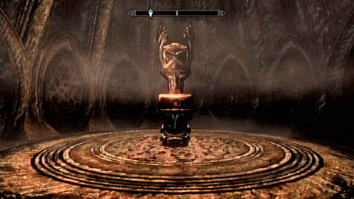 At the end you will find a peculiar round room with a pedestal in the middle - Find the source of Miraak's power - Main story mode - The Temple of Miraak - The Elder Scrolls V: Skyrim - Dragonborn - Game Guide and Walkthrough