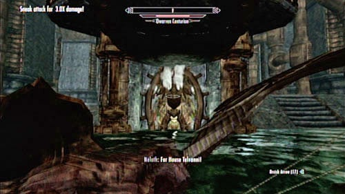 Cross the lowered bridge and return to the main room of the fortress (Nchardak Great Chamber) - Restore the steam supply to the Dwemer reading room - Main story mode - Path of Knowledge - The Elder Scrolls V: Skyrim - Dragonborn - Game Guide and Walkthrough