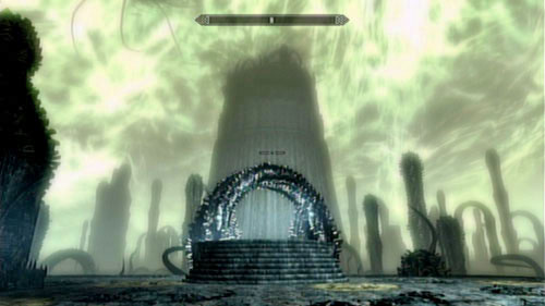 The first level of Apocrypha is very easy - just climb the stairs in front of you and read the book which leads to Chapter II - Reach Miraak's Temple - Main story mode - At the Summit of Apocrypha - The Elder Scrolls V: Skyrim - Dragonborn - Game Guide and Walkthrough