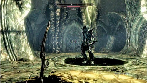 With the beast down (you've fought many up until now, so this one shouldn't be particularly difficult), head to the button to the left of the entrance door - Reach Miraak's Temple - Main story mode - At the Summit of Apocrypha - The Elder Scrolls V: Skyrim - Dragonborn - Game Guide and Walkthrough