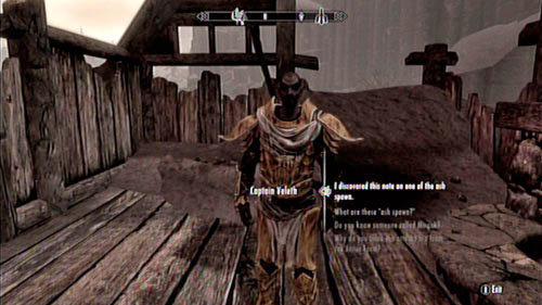 Since you have obtained the Declaration of War, hand it over to Captain Veleth who's standing right beside you - March of the Dead - Side missions - Raven Rock - The Elder Scrolls V: Skyrim - Dragonborn - Game Guide and Walkthrough