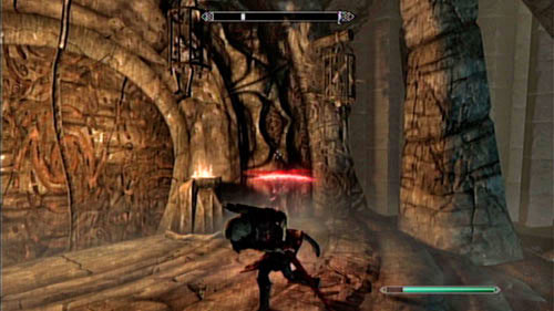 Stand in front of the large gate and take a closer look at it - The Final Descent - Side missions - Raven Rock - The Elder Scrolls V: Skyrim - Dragonborn - Game Guide and Walkthrough