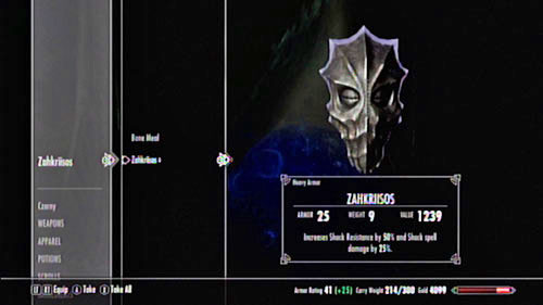 After you defeat the Priest, pick up his mask - it provides a 50% Shock resistance and increases damage from such spells by another 25% - The Final Descent - Side missions - Raven Rock - The Elder Scrolls V: Skyrim - Dragonborn - Game Guide and Walkthrough
