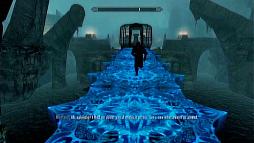 After returning to the main chamber, approach the cage in the middle - Lost Legacy - Side missions - Skaal Village - The Elder Scrolls V: Skyrim - Dragonborn - Game Guide and Walkthrough
