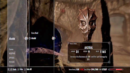 After you defeat the demon, take his Mask form his corpse - Unearthed - Side missions - Kolbjorn Barrow - The Elder Scrolls V: Skyrim - Dragonborn - Game Guide and Walkthrough