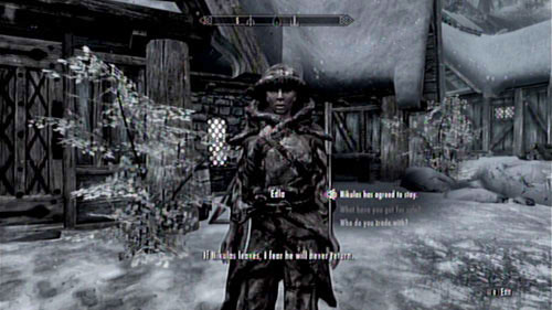 After completing the objective, meet with Edla and receive her gratitude - Convince Nikulas to stay in Skaal Village - Other missions - The Elder Scrolls V: Skyrim - Dragonborn - Game Guide and Walkthrough