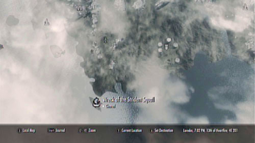 The wreck can be found at the southern shore of the island, nearby Old Attius Farm - Locate Cindiri's Folio from the wreck of the Strident Squall - Other missions - The Elder Scrolls V: Skyrim - Dragonborn - Game Guide and Walkthrough