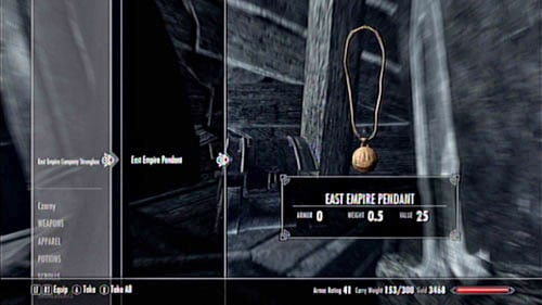 Locations not marked on the map - Locate the East Empire Pendants for Fethis Alor in Raven Rock - Other missions - The Elder Scrolls V: Skyrim - Dragonborn - Game Guide and Walkthrough