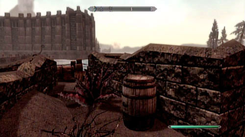 Around the middle of the road, between destroyed houses, you will find a barrel with the beverage (screen above) - Locate the Raven Rock Stash - Other missions - The Elder Scrolls V: Skyrim - Dragonborn - Game Guide and Walkthrough
