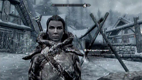 The woman can be found in the same place that you left her - apparently nothing has changed in the Skaal Village - Take Nera's Necklace to Runil in Falkreath - Other missions - The Elder Scrolls V: Skyrim - Dragonborn - Game Guide and Walkthrough