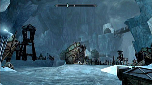 Stand in front of the throne on which the skeleton of Karstaag rests and place the skull found in the Glacial Cave on it - Karstaag - Unmarked missions - The Elder Scrolls V: Skyrim - Dragonborn - Game Guide and Walkthrough