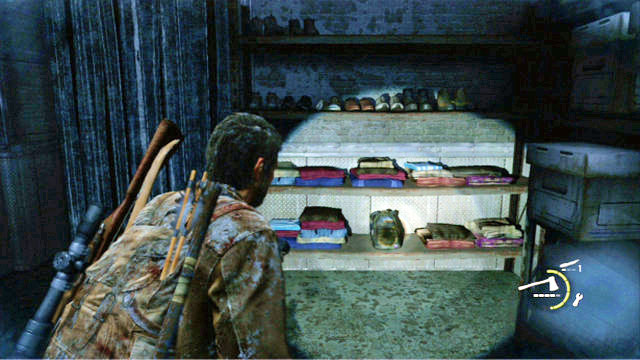 Joel will pick it up automatically after you reach the meat storage - Lakeside Resort - Artifacts and pendants - The Last of Us - Game Guide and Walkthrough