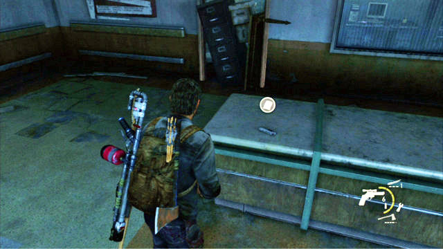 Firefly lab artifacts and pendants the last of us game guide after you climb to the top of the stairs approach the table in front of mozeypictures Choice Image