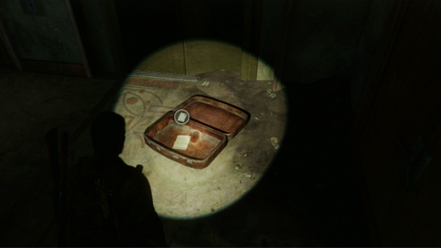 At the other side, there is a suitcase with a slip of paper inside, with a safe combination on it - Hotel Lobby (text & maps) - Pittsburgh - The Last of Us - Game Guide and Walkthrough