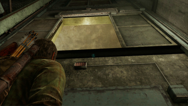 After you enter, squeeze through the slit to the right and help Ellie up to the exit - Hotel Lobby (text & maps) - Pittsburgh - The Last of Us - Game Guide and Walkthrough
