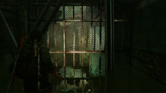 Once you resurface, you will be very close to the barricade that blocks off the tunnel - Hotel Lobby (text & maps) - Pittsburgh - The Last of Us - Game Guide and Walkthrough