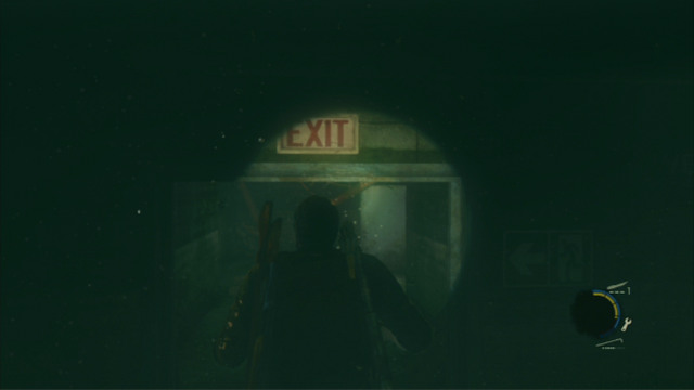 Return then to the water and keep swimming underwater, through the door marked as the EXIT - Hotel Lobby (text & maps) - Pittsburgh - The Last of Us - Game Guide and Walkthrough