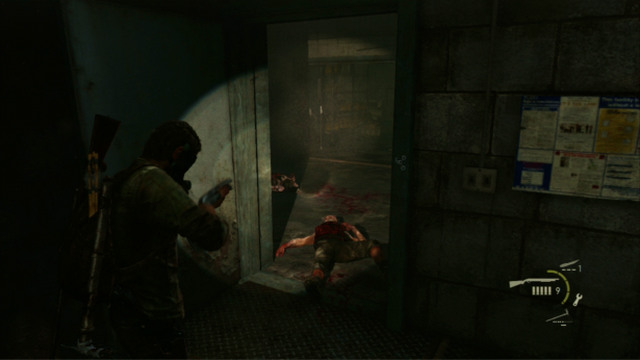 Before you start it, deploy bombs in two entrances into this room and prepare to or three Molotov's cocktails - Hotel Lobby (text & maps) - Pittsburgh - The Last of Us - Game Guide and Walkthrough